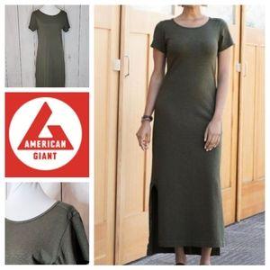 American Giant Premium maxi t shirt dress